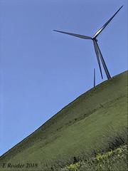 Against The Wind (Greatest Paka Photography) Tags: wind turbine energy alternativeenergy environment sanfranciscobayarea efficiency gradient hillside terrain sky grass generator livermore