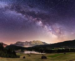 Milchstraße (louhma) Tags: milchstrase milkyway night nightsky stars bavaria deutschland landscape landschaft lake gerold hütten alps mountains longexposure