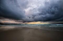 Atormentada... (T.I.T.A.) Tags: tormenta nubes cielo sky mar playa playadelalanzada lalanzada alanzada storm lluvia atardecer anochecer puestadesol noalla pontevedra galicia