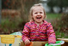 Sand Box! (dangaken) Tags: sandbox play playtime toddler twoyearold child kid backyard daughter raincoat sand bucket toy toys smile laugh spring