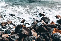 Splash (Top KM) Tags: water ocean sea blue stones foam no person nobody outdoors outdoor outside natural light shore seascape wave landscape daylight daytime day nature rocks beautiful india seashore seaside calm peaceful coast