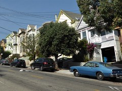 San Francisco, Noe Valley, Clipper Street Looking West (Mary Warren 13.5+ Million Views) Tags: sanfranciscoca noevalley architecture building house residence street victorians cars