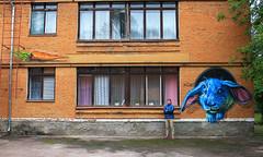 rabbit by gide1 (vitaliygide1) Tags: ukraine ukr украина прилуки граффити graffitiporn graffiti art street streetart urban spraydaily spraypaint cans character colorful summer goodtimes goodday mural windows color style rabbit burn inprocess writer vitaliygide1 gide1