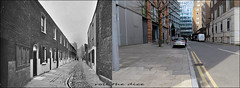 Zoar Street`1912-2018 (roll the dice) Tags: london se1 southwark old local history retro bygone vanished demolished sad mad flats streetfurniture architecture thmes globe surreal oldandnew pastandpresent hereandnow urban england classic art uk dwelling dirty grim windows doors bankside shakespeare cobbled victorian canon tourism tourists changes collection nostalgia comparison kids back rear beds trees van tiny offices rooms