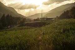 Mojstrana sunset (LG_92) Tags: slovenia mojstrana green grass sunset sunshine clouds field mountains valley countryside nikon dslr d3100 2018 spring may