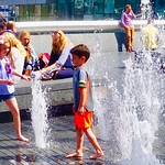 Fun with water fountains. thumbnail