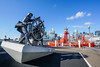 DSC01519 (Damir Govorcin Photography) Tags: windjammer sailors bronze sculpture two wheel wharf pyrmont sydney wide angle natural light buildings architecture clouds zeiss 1635mm sony a7rii