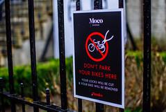 No Moco Parking (134/365) (Walimai.photo) Tags: moco museum amsterdam sign noparking bike bici bicicleta señal museo nikon d7000 nikkor 35mm detail detalle fence valla verja holanda netherlands