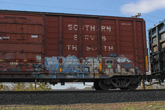 Yner, Dose (NJphotograffer) Tags: graffiti graff trackside railroad rail art freight train bench benching box car boxcar yner dose