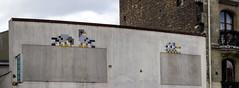 Invader, Porte de Vincennes, Paris (IFM Photographic) Tags: untitledpanorama1 canon 600d ef2470mmf28lusm ef 2470mm f28l usm lseries paris france 12tharrondisment xii 12th arondisment 12e 12ème 75012 portedevincennes invader spaceinvader invasion tiles streetart art grafitti stitched