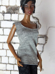 Capsule Collection – the basic grey shirt (Levitation_inc.) Tags: ooak doll clothes clothing fashion fashions dolls handmade etsy levitation levitationfashion royalty fr fr2 nuface poppy parker barbie made move outfit black white basic basics capsule collection wardrobe tropical siren josephine jo