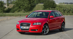 Audi A3 (Balázs Photo) Tags: car outdoor audi a3 rotor wheel rim dof dslr sunny red panorama