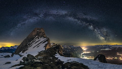 Brisi and the Milky Way (lukas schlagenhauf) Tags: brisi churfirsten toggenburg walensee switzerland swiss suisse schweiz stgallen creativcommons nature lukasschlagenhauf night nightscape europe canoneos6d canon milkyway milchstrasse stars astrophotography galacticcore panorama visipix visipixcollections