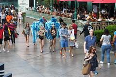 Colorful People In Las Vegas (dorameulman) Tags: dorameulman lasvegas nevada poeple streetshot streetscene street streetphotography candid dog eyecontact canon7dmark11 canon color