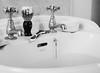 the daily ritual (louys:) Tags: stilllife fuji xt2 xf35mmf14r sink bathroom primelens closeup shaving brush razor tap water soap