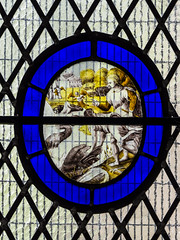 Raphael directing Tobias to catch fish (badger_beard) Tags: linton mary virgin church cambridgeshire cambs south cambridge haverhill