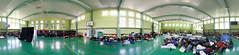 Fotocon 2017 backstage: Panorama of the gym! (SpirosK photography) Tags: fotocon2017 fotoconbytechland fotoconbytechland2017 backstage day2 panorama ice gym sleeping