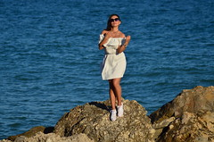 Anastasiia (denis.nayk) Tags: white dress nice cute change playa mar sea