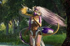 Natsu no kaze/ Summer Wind (LiangScorpio) Tags: sl secondlife aii fallengodsinc poem summer trees dragon horns aiitheuglybeautiful