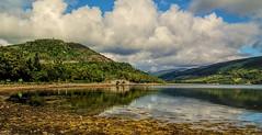 bridge over loch Fyne (grahamd4) Tags: lochfyne scotland landscape reflections bridge fuji hs10