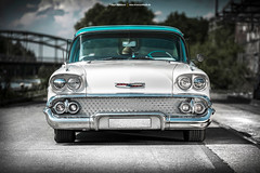 1958 Chevrolet Bel Air - Shot 1 (Dejan Marinkovic Photography) Tags: 1958 chevrolet chevy bel air impala american classic car frontend chrome