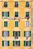 camogli windows (poludziber1) Tags: camogli liguria italia italy yellow building facade architecture green window urban travel