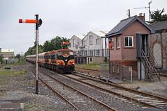 171 & 162 on 1930 Limerick-Ennis at Ennis 13-Jun-08 (metrovick) Tags: irishrail iarnrodeireann ie141class ie171 ie162 mk3 ennisrailway railwayclare emd emdexportloco jl8