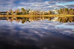 Lake Vähäjärvi (vilomaki) Tags: pirkkala lake järvi finland suomi evening reflection landscape sky water