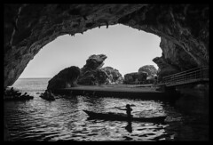 rowing in the cave (ukke2011) Tags: nikond850 nikkor241204vr sea mare cave grotta rowing canoa canoe