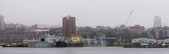 DUX_6627r (crobart) Tags: halifax dartmouth ferry harbour skyline fog foggy
