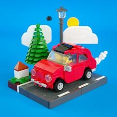 Mini FIAT 500 (gabriele.zannotti) Tags: fiat 500 lego mini support ideas project mecabricks render 3d