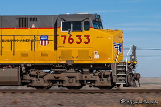 UP 7633 | GE C45ACCTE | UP Sidney Subdivision