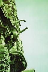Fujica ST Portal of the Folded Wings 2 (▓▓▒▒░░) Tags: california history la los angeles burbank valley sfv san fernando landmark architecture portal gateway cemetery burial mausoleum shrine memorial valhalla crooks criminals land deal scheme investor real estate analog mechanical vintage retro classic 35mm film camera japan design style cross process xpro