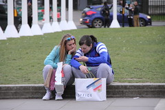 People watching in London (Ian Press Photography) Tags: people london england parliament square tourist tourists selfie
