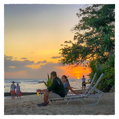 a Beer at Sunset... (Timothy Valentine) Tags: 0418 clichésaturday sunset people beer sky vacation 2018 beach bridgetown christchurch barbados bb