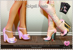 Abigail Heels (Oriana Kuhr) Tags: dillydolls dd secondlife sl maitreya slink shoes footwear footcandy fashion heels hourglass kawaii physique original cute new blush
