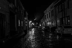 Rainy night (d.portnoy) Tags: mosonmagyarovar night street cars dark rain streetlamps