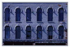 Golden Arches? - NO!    BLUE (TAC.Photography) Tags: arches windows bluecolor historic brickbuilding oldstructure saginaw tacphotography tomclarknet