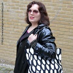 wearing black (Elegance Revisited) Tags: black graphictee pinstripes 40blogger marimekko raincoat