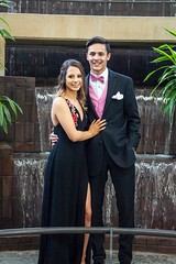 Our youngest granddaughter, Katie, at her Senior Prom (BarryFackler) Tags: katie prom 2018 seniorprom tuxedo gown dress formal couple pair date nebraska bellevue bellevuenebraska bellevuene highschool bowtie waterfall indoor people smiles smiling youth