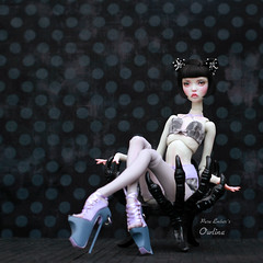 Impress me (pure_embers) Tags: pure laura embers bjd doll dolls england uk girl popovysisters popovy sisters littleowl little owl pureembers owlina embersowlina photography photo ball joint resin portrait fine art black short kitty wig eclipse21 dollssymphony outfit shoes dark elegant