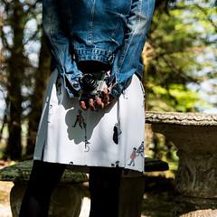 blue jeans (nicolaspetit7878) Tags: blue blanc jupe veste mains back lumière lumièrenaturelle light extérieur jardin garden nikon nikkormat camera old objet objectif girl woman color couleur nikonpassion