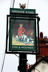 Pub sign for the Fox & Hounds, Brasted Chart. (Peter Anthony Gorman) Tags: foxhounds greeneking kentpubs brastedchart pubsigns