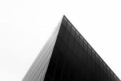 Pinnacle (Darren LoPrinzi) Tags: 5d canon5d manhattan ny nyc newyork newyorkcity urban canon city miii architectural mono bw blackwhite bnw triangle pyramid light shadows windows buildingtop minimal minimalism simple simplicity lessismore contrast highcontrast