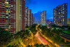 Redhill Urban Scape {Flickr Explore} (Chye Guan, Tan) Tags: urbanscape urban landscape architectural building redhill hdb hdbscape hdbheartland singapore singaporescape bluehour mrtstation mrttrack mrt lighttrail
