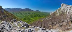 Amphitheater (Milos Golubovic) Tags: pano panorama dry mountain suva planina kosmovac trem porch srbija serbia nis d7100 nikon sigma viewpoint pasarelo divna gorica spring green ridge bela palanka