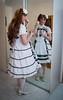 Little girl (blackietv) Tags: lolita blouse dress petticoat lace frilly white tgirl transvestite crossdresser crossdressing transgender mirror
