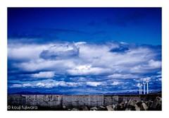 wind power windmill...under the white cloud (kouji fujiwara) Tags: fa43mmf19limited fa43mm f19 limited blue white cloud sky skyscape cloudscape windmill windpower wind power