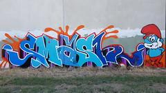 Smasher... (colourourcity) Tags: streetart streetartnow streetartaustralia melbourne melbournestreetart melbournegraffiti graffiti graffitimelbourne colourourcity nofilters awesome original smasher sa supremeartists smurf smurfs papasmurf