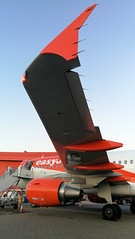 Generation Easyjet (gooey_lewy) Tags: g ezga gezga tip orange twilight airbus engine turbofan a319 easyjet generation aircraft jet wing shark luton ltn airport stand 1 ground airside amsterdam cheap flights last off